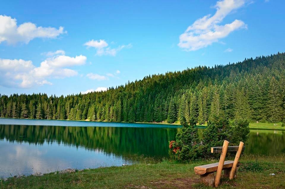 Скамейки у Черного озера